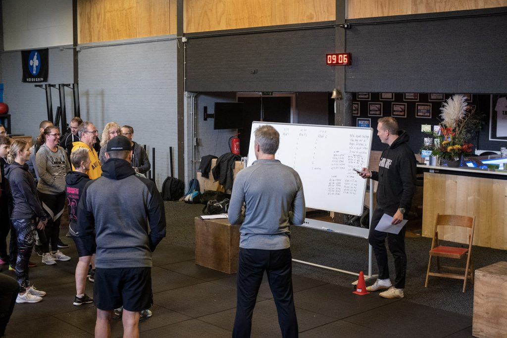 Whiteboard bij CrossFit Willemsoord in Den Helder