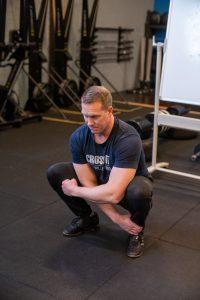 Deep squat rotation beginpositie