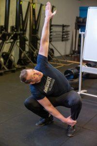 Deep squat rotation eindpositie